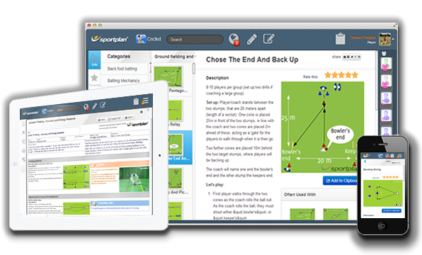 Cricket Drills on Desktop Tablet and Mobile