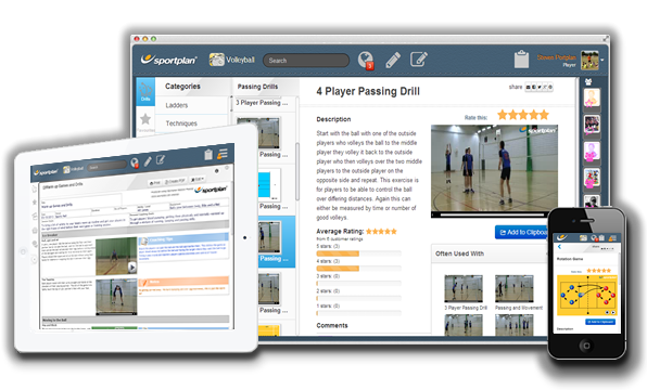 Volleyball Drills on Desktop Tablet and Mobile