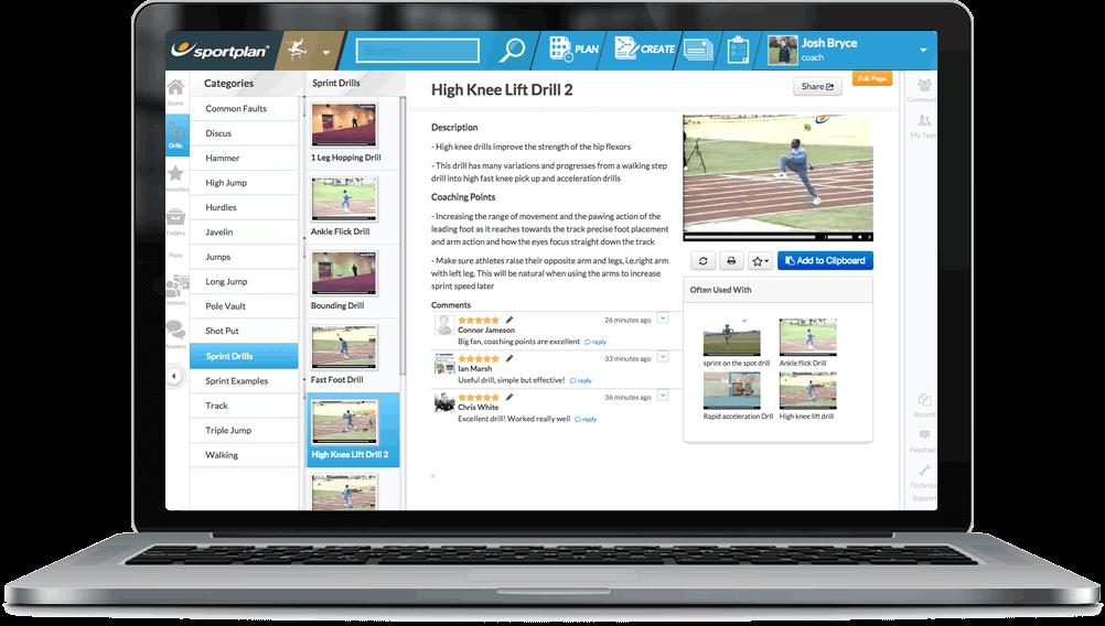 Athletics Coaching Drills Library