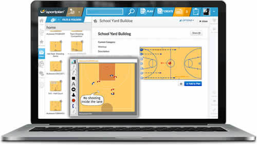 Basketball Coaching Chalkboard