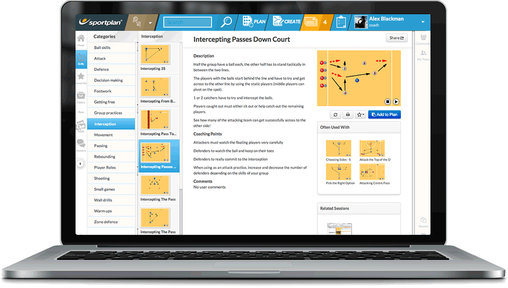Netball Coaching Drills Library