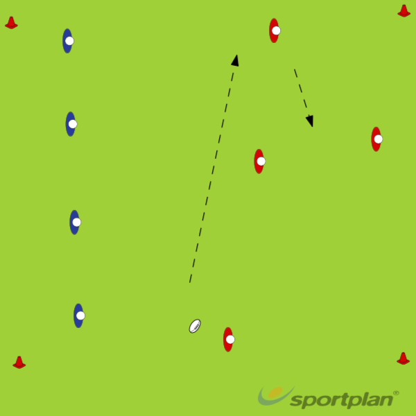 Backs specific Long handling- Widen the passPassingRugby Drills Coaching