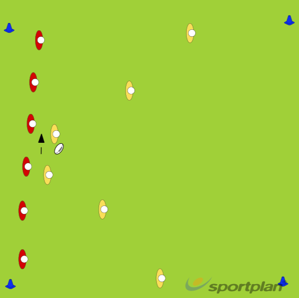 Off-load and move ball before contactRugby Drills Coaching