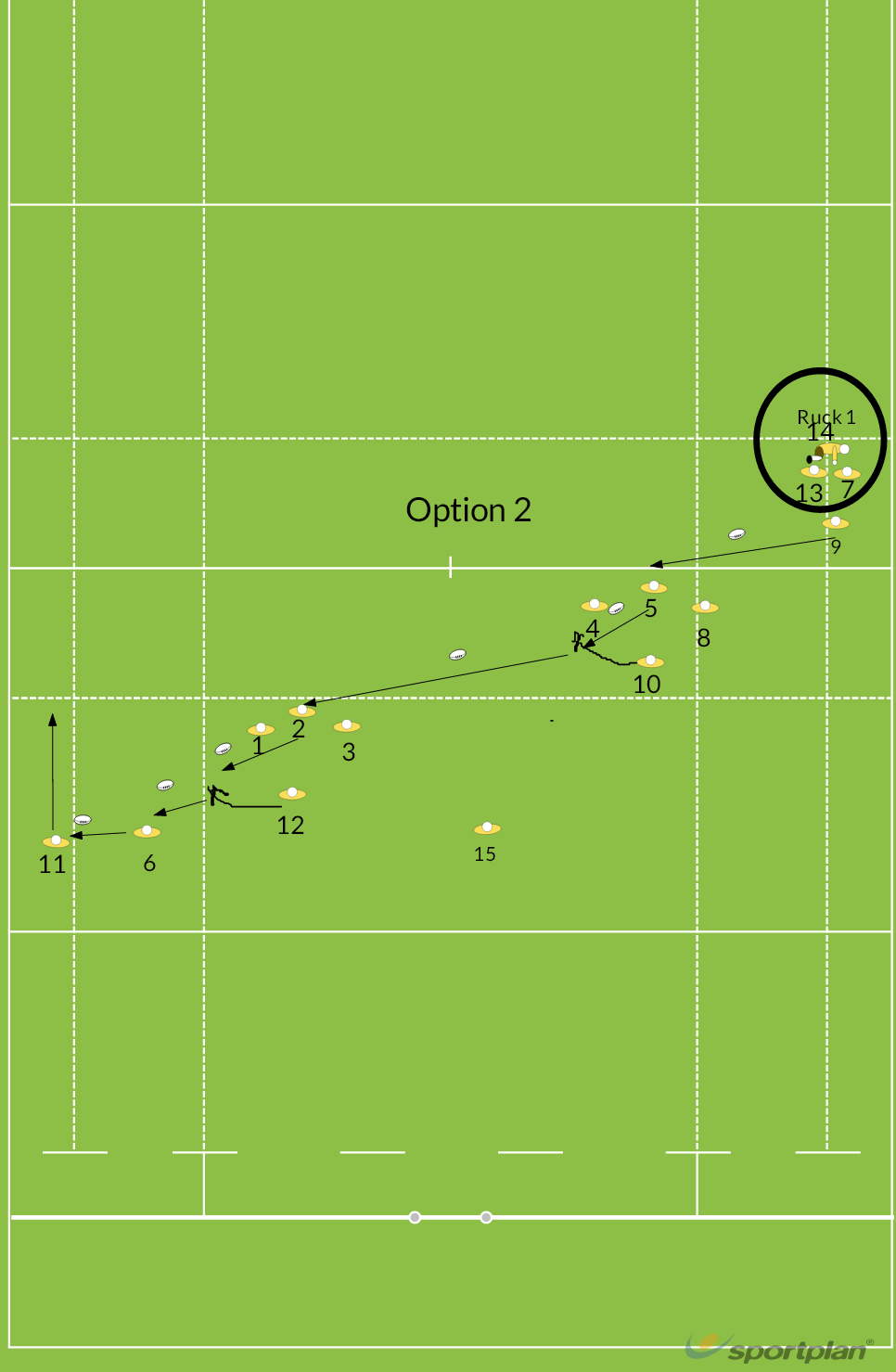 Attack Shape Option 2Backs MovesRugby Drills Coaching