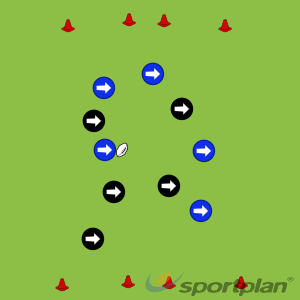 Touch Rugby Passing SoccerRugby League Drills Coaching