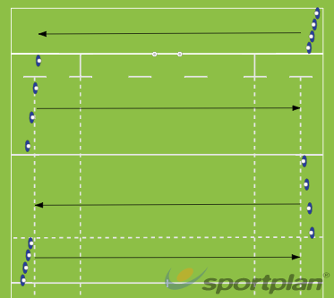 4 x 4HandlingRugby Drills Coaching