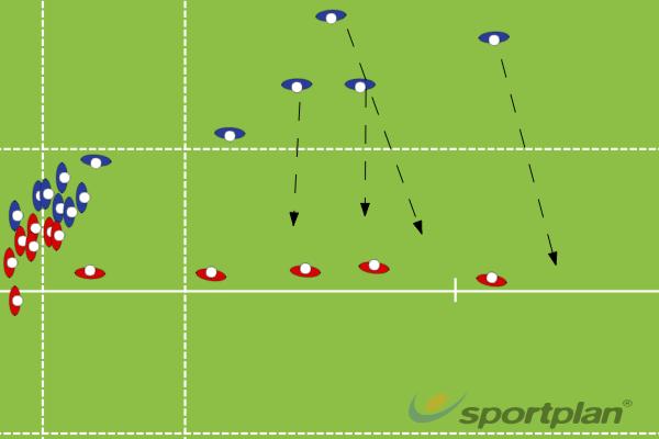 Backline triangleRugby Drills Coaching