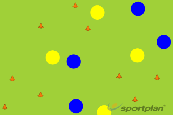 Triangles Game (W)Football Drills Coaching