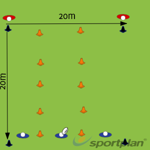 attacking spaceDecision makingRugby Drills Coaching