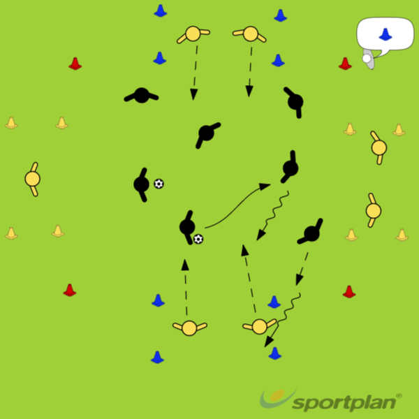 KuljettamispeliConditioned gamesFootball Drills Coaching