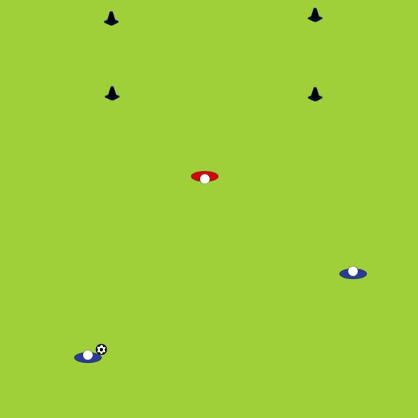 Simple 2v1 (U7+)1 v 1 skillsFootball Drills Coaching