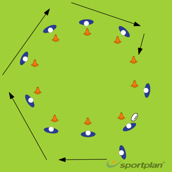 Chasing the pass Touch footballRugby Drills Coaching
