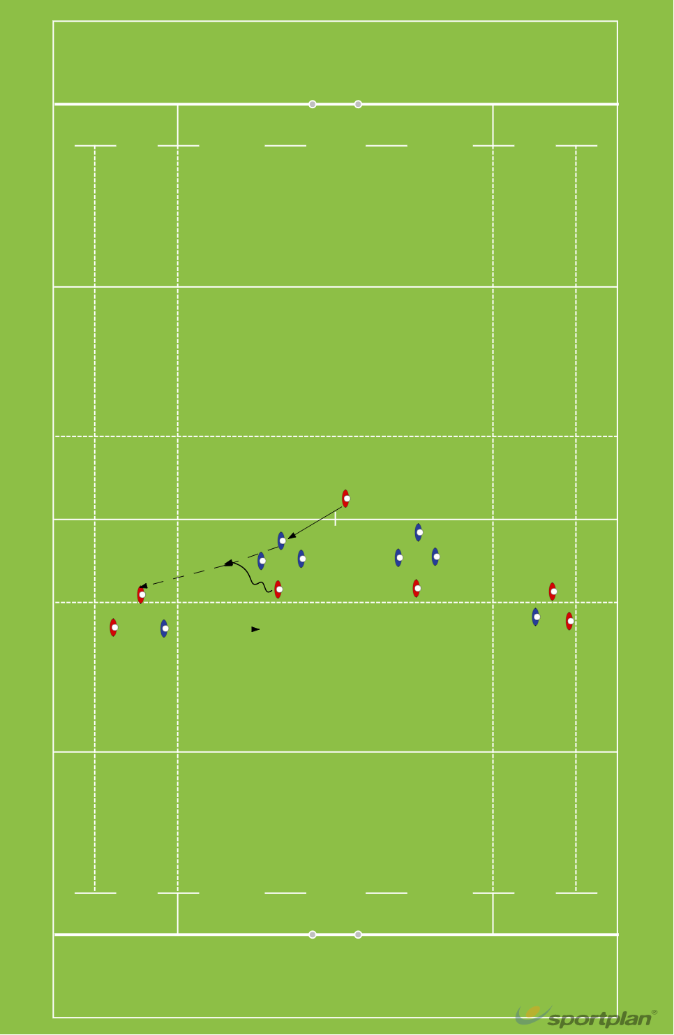 1-3-3-1 12Rugby Drills Coaching