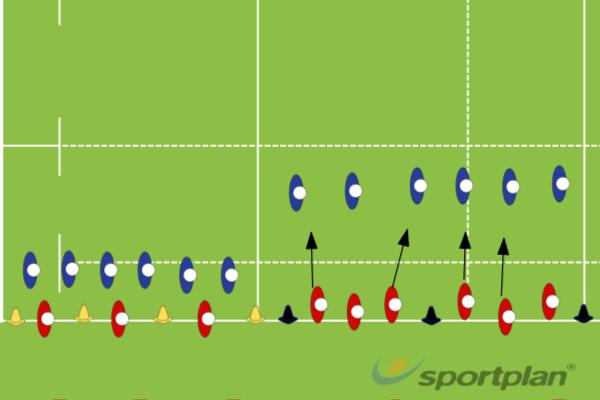 2v1   3v2v1 warm upRugby Drills Coaching