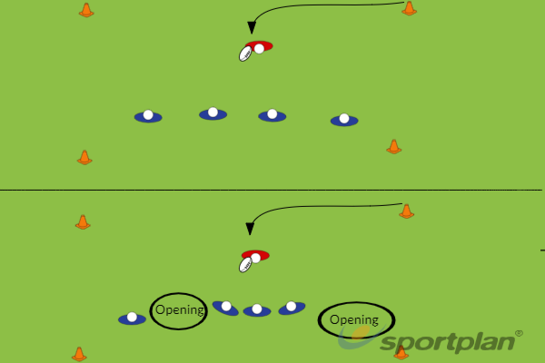 Copy of Defence drill 2: 4 VS 1Defensive PatternsRugby Drills Coaching