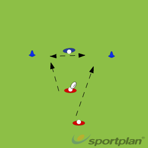 2 vs 1 - Off Loading in TackleOff LoadsRugby Drills Coaching