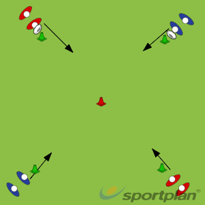 Warm Up Passings 1 - Pop and PassWarm UpRugby Drills Coaching