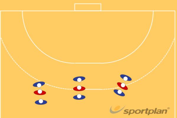 Warming up met verdedigings bewegingenHandball Drills Coaching