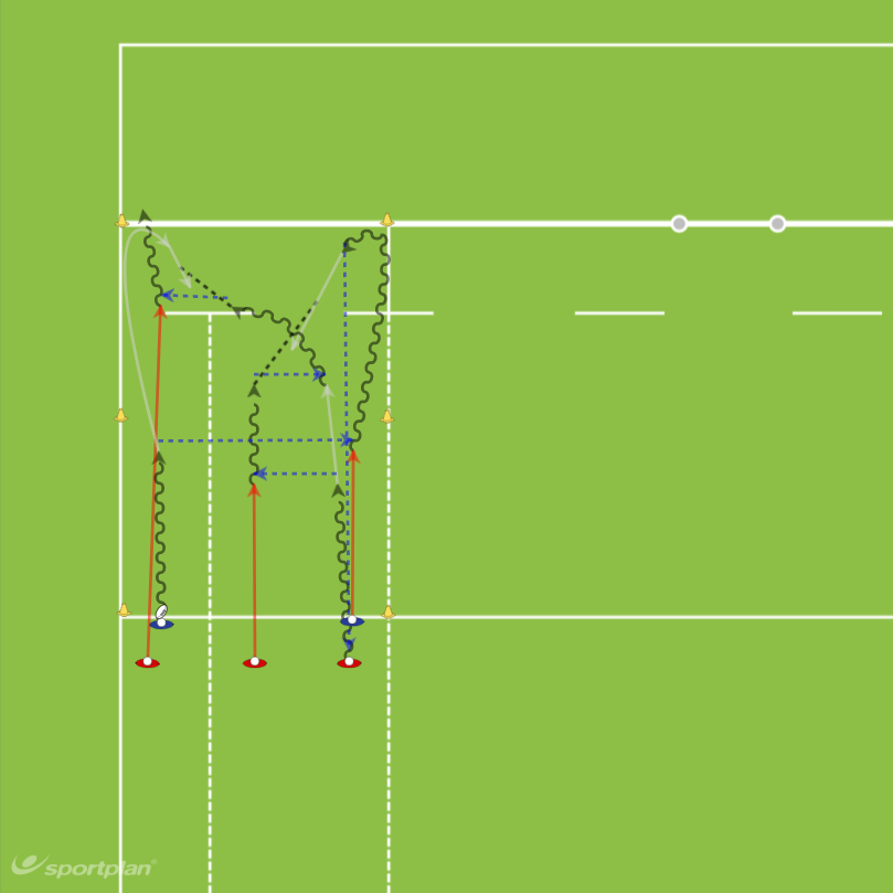 3 v 2 Reverse DrillDecision makingRugby Drills Coaching