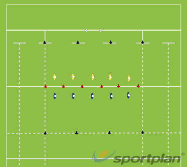 Catch me if you can -  Quick thinking and defensive gameAgility & Running SkillsRugby Drills Coaching