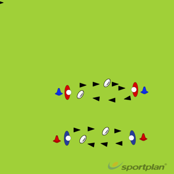 Catching in Pairs:Rugby Drills Coaching