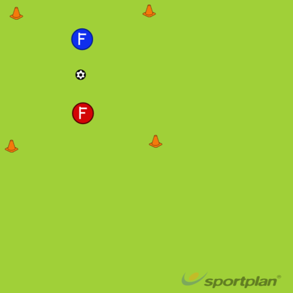 1 on 1 Dribbling ControlFootball Drills Coaching