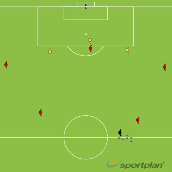 5 attackers + 3 DefendersPossessionFootball Drills Coaching