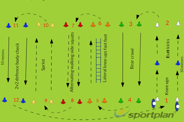 SDC Warm up grid 1Warm UpRugby Drills Coaching