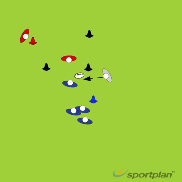 Rango ridotto gioco nella difesaRugby Drills Coaching