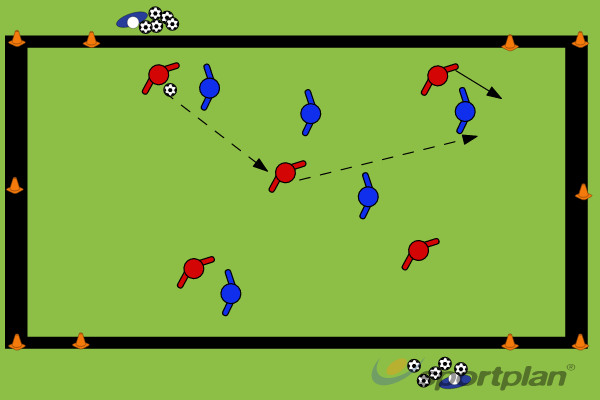 Defending the counterConditioned gamesFootball Drills Coaching