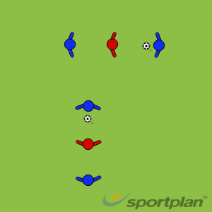'Tunnel Ball'Passing and ReceivingFootball Drills Coaching