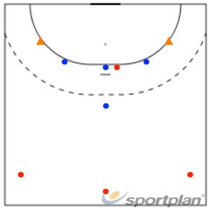 4vs4 in 5:1Handball Drills Coaching