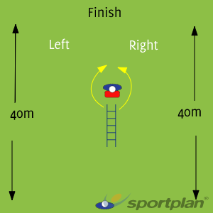 Drill 2 Speed accelaration agility drillRugby Drills Coaching