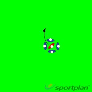 4 v 1 BreakoutWarm UpRugby Drills Coaching