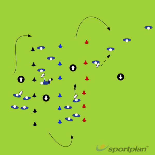 in 4s, inside pop, down and pop, grubber, handsPassingRugby Drills Coaching