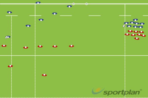 split backs and forwardsRugby Drills Coaching