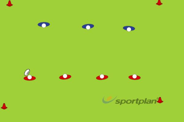3 v 4Rugby Drills Coaching