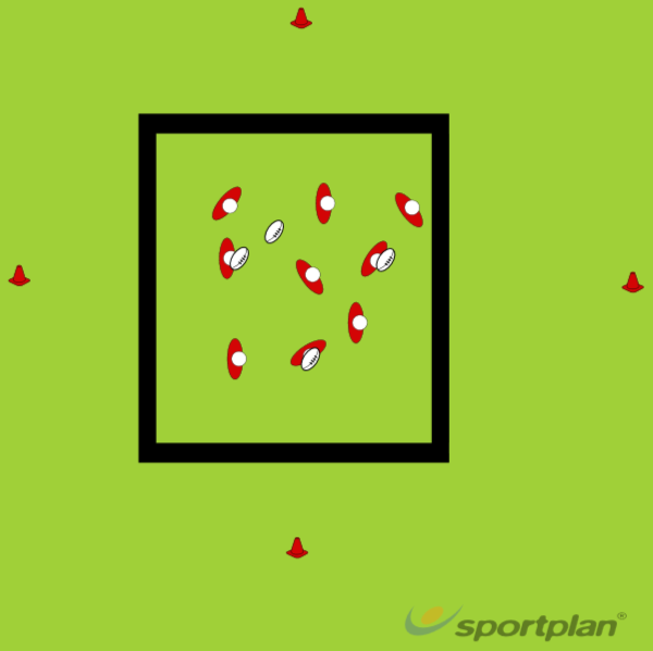 Random Passing SquareRugby Drills Coaching