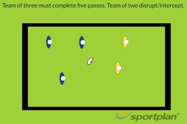 5 Pass GameRugby Drills Coaching