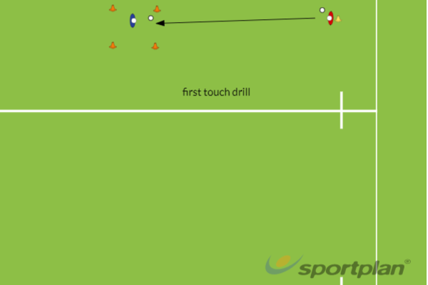 first touch drillHockey Drills Coaching