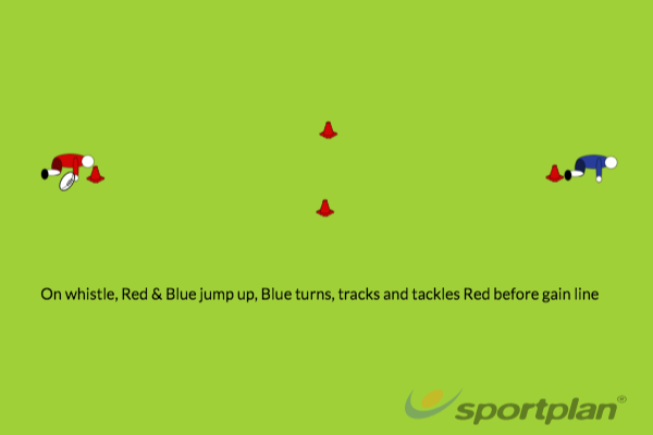 Line Speed TacklingRugby Drills Coaching