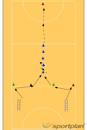 ladder and cone drillsNetball Drills Coaching