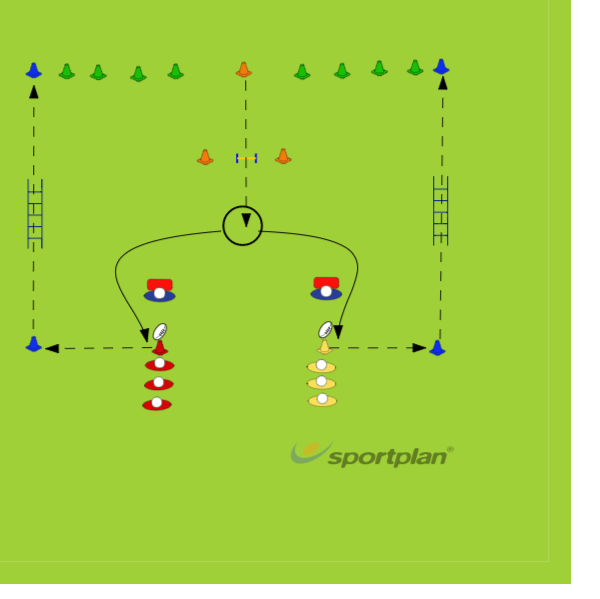 Egg ObstacleHandlingRugby Drills Coaching