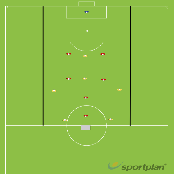 161017 Transition opportunities in a 4-2-3-1 (2-2-1-1)Football Drills Coaching