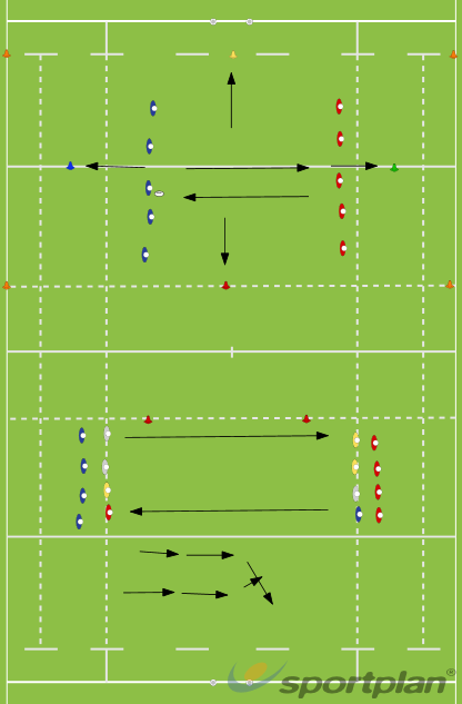 Touch Game 4 Colour Cones Rucks SetMatch RelatedRugby Drills Coaching