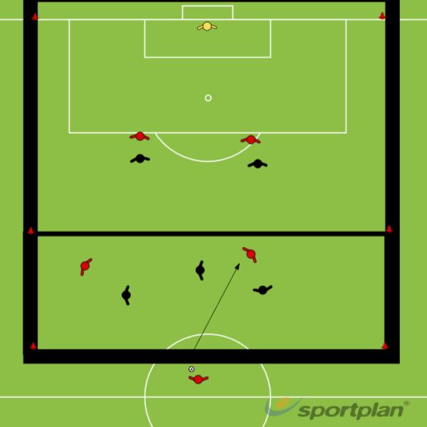 5 v 5 kahdella alueellaConditioned gamesFootball Drills Coaching