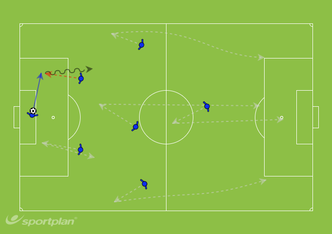 U11's 7 a-side (Keeper in possession)Football Drills Coaching