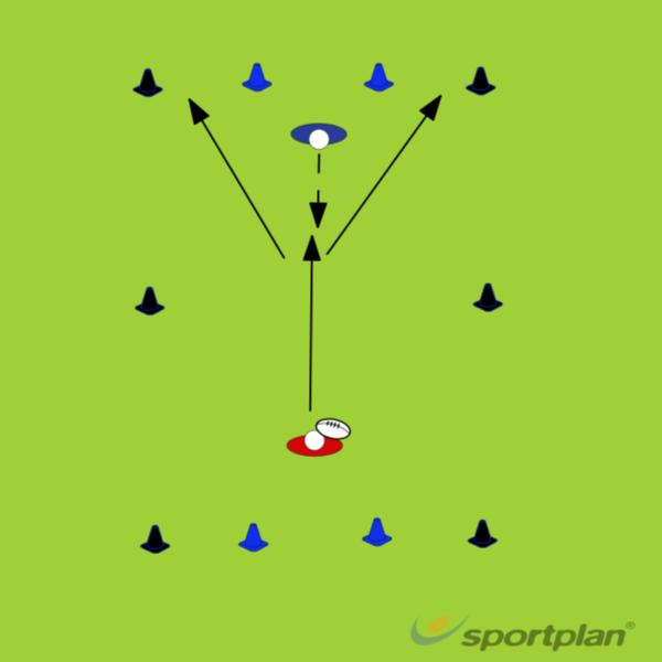 1v1 tackle+scoreRugby Drills Coaching