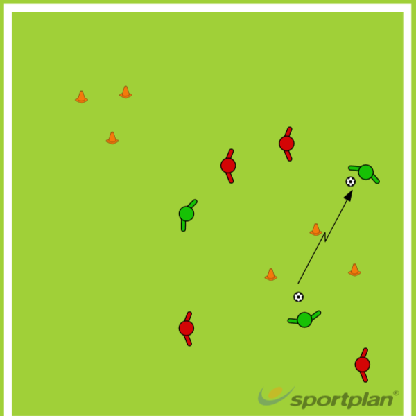 SSG with triangle passing goalsPassing and ReceivingFootball Drills Coaching