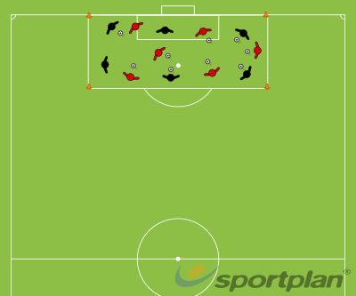 Dribbling and Passing In order to scoreFootball Drills Coaching